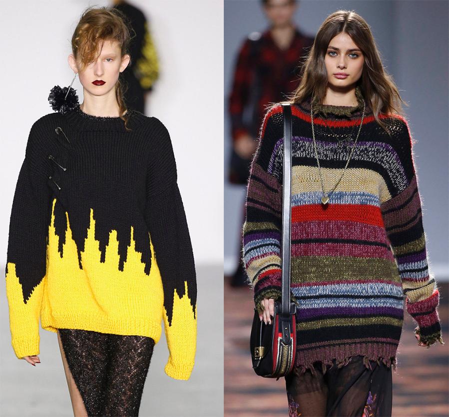 Модный свитер 2017 спицами