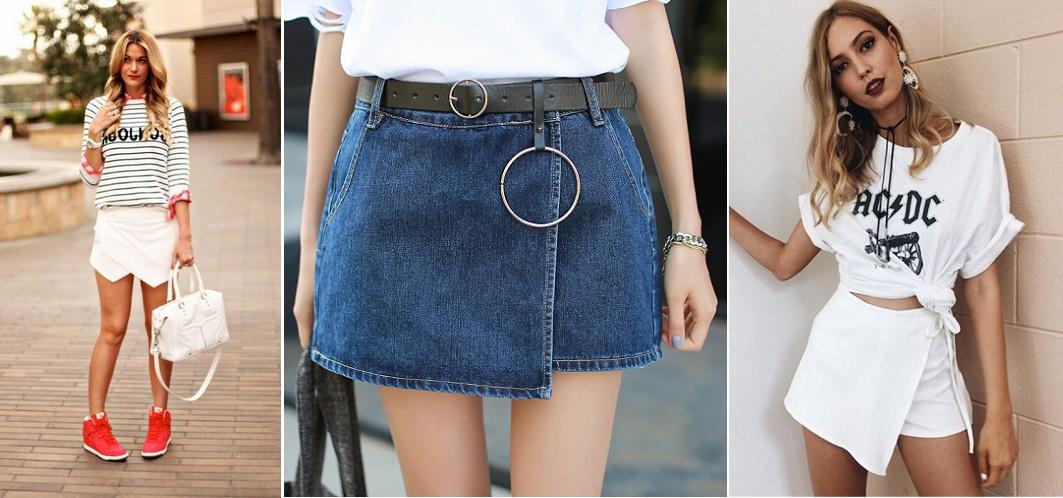 Фото модных юбок шорт